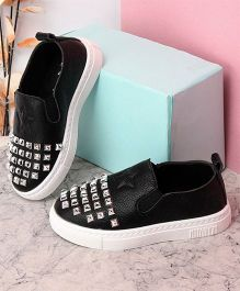 Kidlingss Slip-On Shoes With Beads And Star - Black