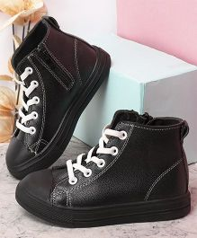 Kidlingss Zip-Up Boots With Lace Design - Black