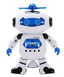 Emob RC 360 Degree Dancing Robot With Light & Sound - White Blue