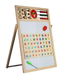 Emob Wooden 2 In 1 Magnetic Drawing & Writing Board - Multicolour