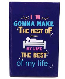 The Crazy Me Life Print Notebook A5 Size - Blue