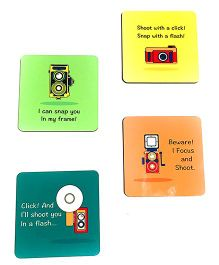 The Crazy Me Vintage Camera Style Coasters Multicolor - Pack of 4