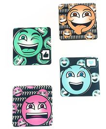 The Crazy Me Quirky Emoticons Coasters Multicolor - Pack of 4