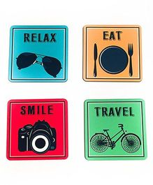 The Crazy Me Travel Coasters Multicolor - Pack of 4