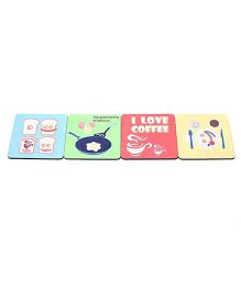 The Crazy Me Breakfast Coasters Multicolor - Pack of 4