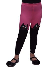 D'Chica Little Owl Leggings - Pink & Black