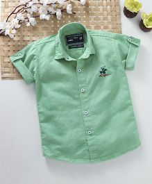 Jash Kids Half Sleeves Solid Colour Shirt - Green