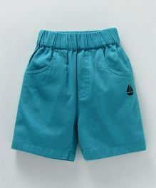 Jash Kids Solid Colour Shorts - Blue