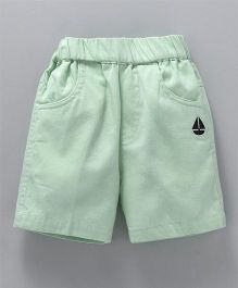 Jash Kids Solid Colour Shorts - Mint Green