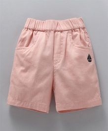 Jash Kids Solid Colour Shorts - Peach