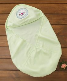 Simply Hooded Wrapper Lion Patch - Light Green