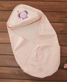 Simply Hooded Wrapper Elephant Patch - Light Peach