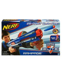 Nerf N-Strike Elite Rampage Blaster With 25 Darts - Blue Orange