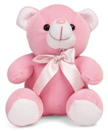 Play Toons Teddy Bear With Bow Pink - 15 cm