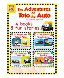 Adventures of Toto the Auto Story Book by Ruta Vyas & Preeti Vyas Pack of 4 - English