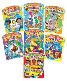 Colour & Learn Books Pack of 7 - English