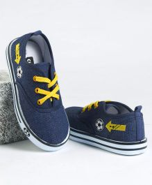 Cute Walk by Babyhug Casual Canvas Shoes Football Print - Navy