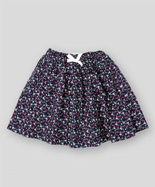 PIKABOO Floral Printed Skirt - Navy Blue