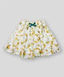 PIKABOO Floral Printed Skirt - Cream