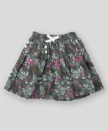 PIKABOO Floral Printed Skirt - Grey