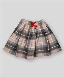 PIKABOO Checkered Design Skirt - Grey & Black