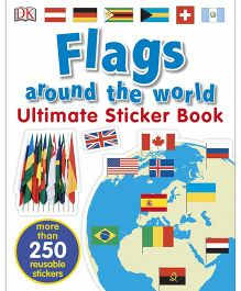 Flags Around the World Ultimate Sticker Book - English