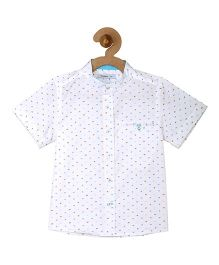 Campana Boys Half Sleeves Shirt - White