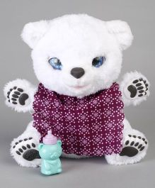 Hasbro Furreal Snifflin Sawyer Polar Bear Soft Toy - White