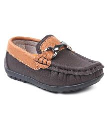 Cute Walk by Babyhug Slip On Loafer Shoes - Coffee Brown