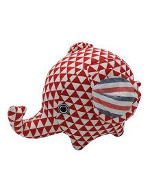 Abracadabra Handmade Elephant Soft Toy Red - 14 cm