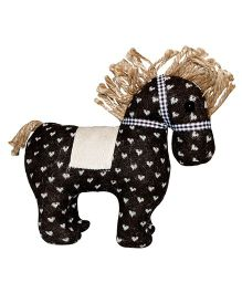 Abracadabra Handmade Horse Soft Toy Dark Brown - 19 cm