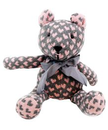 Abracadabra Handmade Teddy Bear Soft Toy Grey - Height 28 cm