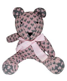 Abracadabra Handmade Teddy Bear Soft Toy Pink - Height 28 cm