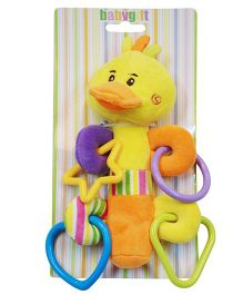 Abracadabra Musical Soft Squeaky Duck Rattle Toy - Blue