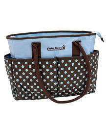 Abracadabra Diaper Bag Polka Dots - Blue & Brown