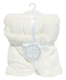 Piccolo Bambino Reversible Chamois Blanket - Light Beige