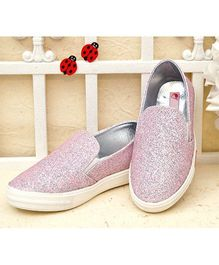 D'Chica Sparkly Loafers - Pink