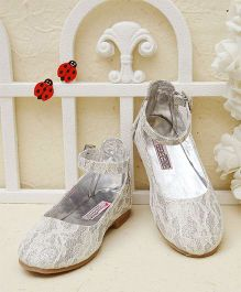 D'Chica Stylish Ankle Strap Shoes - Silver