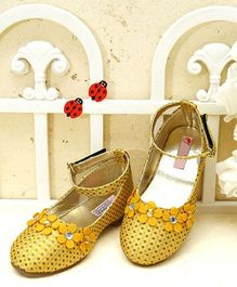 D'Chica High On Style Ankle Strap Shoes - Yellow