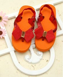 D'Chica Colour Me Bright Summer Flip Flops - Orange