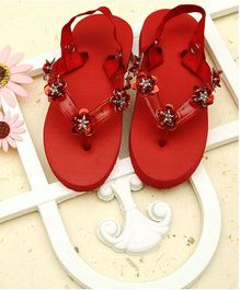 D'Chica Love That Summer Flip Flops - Red