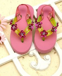 D'Chica Sparkle With Style Flip Flops - Pink