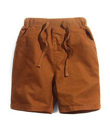 Pre Order - Superfie Brown Colored Shorts - Brown