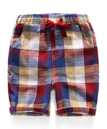 Pre Order - Superfie Big Checkered Mixprint Shorts - Multicolor