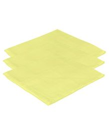 Lula Reusable Muslin Square Towels Pack of 3 - Yellow