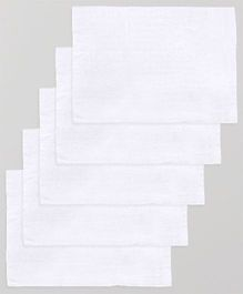 Lula Reusable Muslin Square Napkins Pack of 5 - White