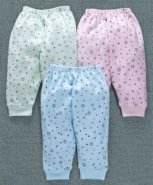 Zero Full Length Lounge Pants Pack of 3 - Light Green Pink Sky Blue