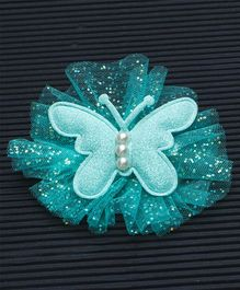 Babyhug Butterfly Shaped Alligator Hair Clip - Green