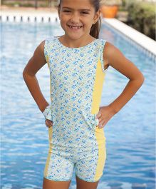 PINEHILL Half Suit Swimwear - Yellow