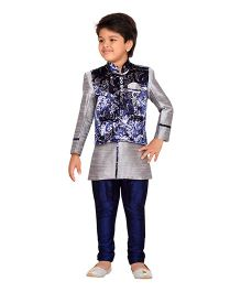AJ Dezines Kids Party Wear Suit Set - Blue